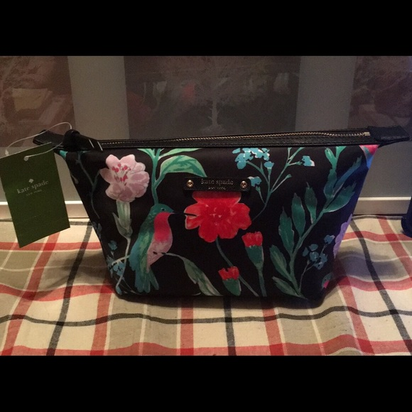 49eaed89d Kate spade tropical makeup bag